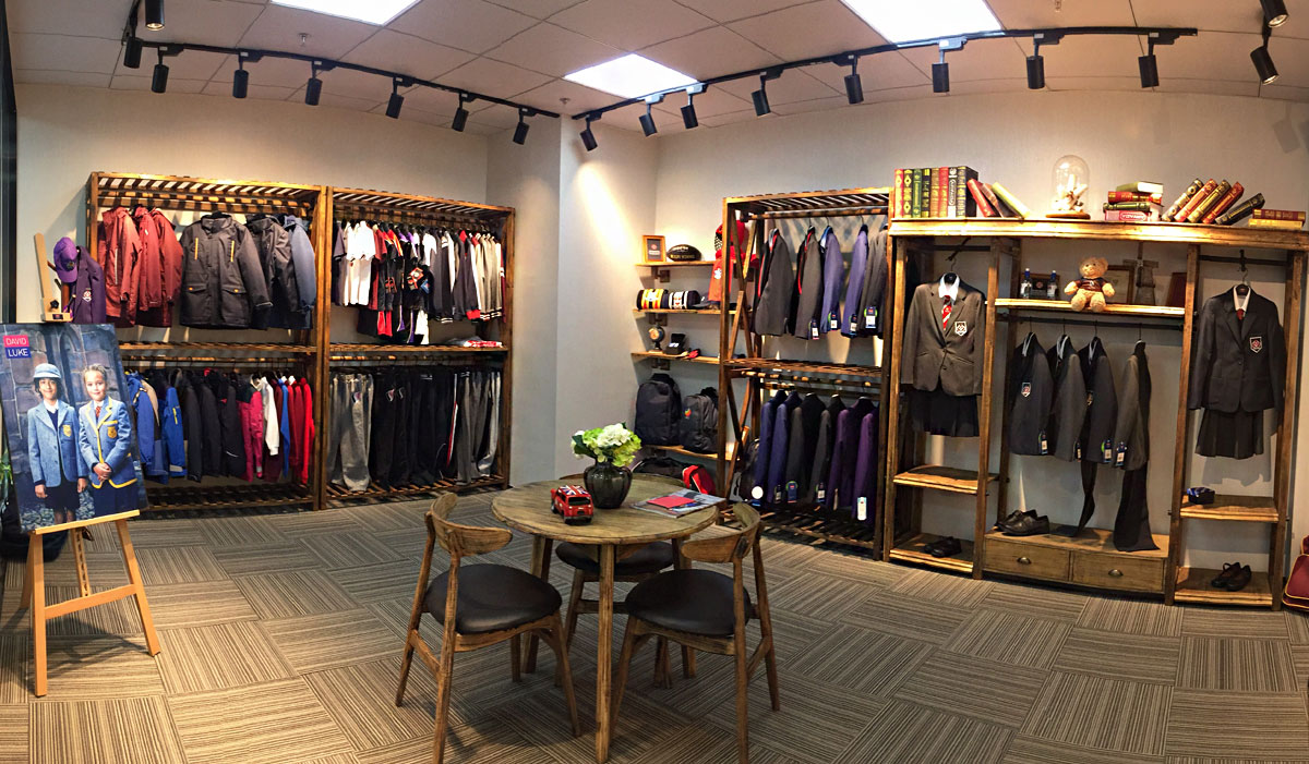 David Luke China School wear showroom