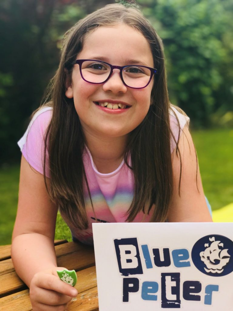 Tilly awarded Green Blue Peter badge
