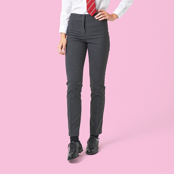 Senior Girls' Slim Fit School Trousers