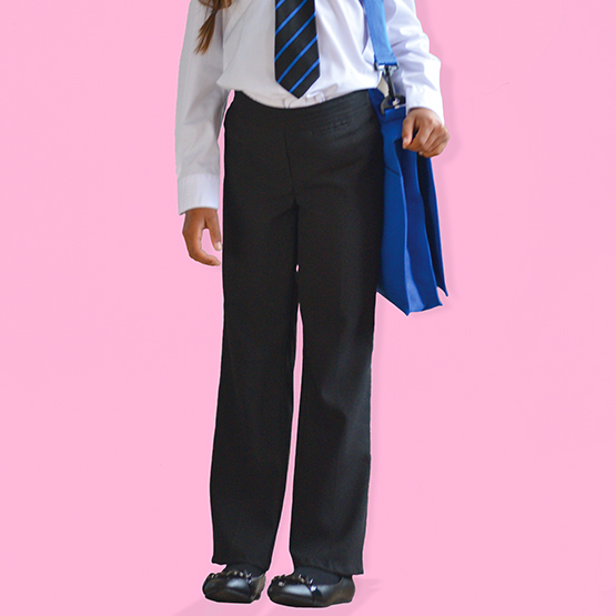 Girls Slim Fit School Trousers