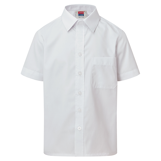 Kids Short Sleeve School Shirt with Velcro Fastening